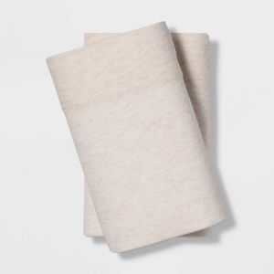 Tencel jersey standard pillowcases beige Berkus